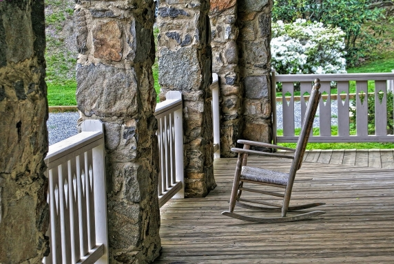 Canva - Rocking Chair on the Porch